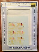 Microscale Decal N Scale 60-658 Golden West Service Freight Cars 1990 Mip