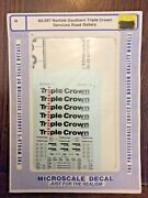Microscale Decal N Scale 60-597 Norfolk Southern Triple Crown Services Mip