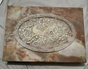 Large Incolay Stone 14x10x2 Jewelry Trinket Box Hand Carved Birds Of Paradise
