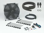Transmission Oil Cooler 30 Plate And 10 Fan Combo Fitting Kit 6r80 691+1006