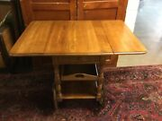 Vtg Athens Table Company No 401 Tea Beverage Cart Trolley W/drawer And Tray