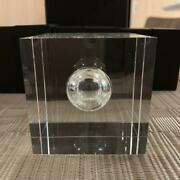 American Express Centurion Black Card Holders Crystal Glass Paper Weight Japan