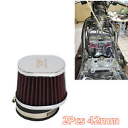 Performance High Flow Motorcycle Carburetor 42mm Air Filter Replacement Parts