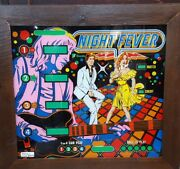 Vintage Sonic Night Fever Pinball Machine Glass Front Framed