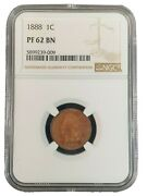 1888 Indian Head Cent Ngc Pf62 Bn 5899239-009 Exquisite Coin Rare