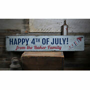 Firework Vintage Distressed Sign, Personalized Wood Sign