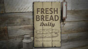 Fresh Bread Vintage Distressed Sign Personalized Wood Sign