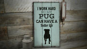 Pug Vintage Distressed Sign, Personalized Wood Sign