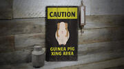 Guinea Pig Novelty Distressed Sign, Personalized Wood Sign