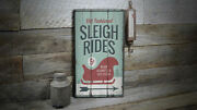 Sleigh Rides Arrow Rustic Distressed Sign Personalized Wood Sign
