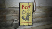Beer Cheaper Than Therapy Rustic Distressed Sign Personalized Wood Sign