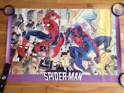 Spiderman And Spiderman 2099 Poster 1992 , Marvel Press 125