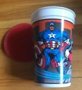 Pizza Hut Real Heroes Cup 1994 Captain America Daredevil Falconwasp