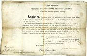 James Madison - Naval Appointment Signed 06/18/1812 Co-signed By Paul Hamilton