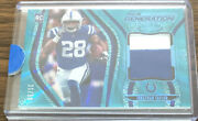 2020 Certified Jonathan Taylor Rc Patch 21/50- Teal Parallel / Colts