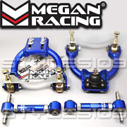 Megan Racing Front Upper +rear Camber Control Arms Kit For Acura Integra 94-2001