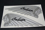Indian Motorcycle Tank Decals 1930and039s Chief Four Scout - Usa Made - New