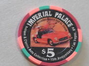 Casino Chip C-134 5.00 Imperial Palace Las Vegas - Auto Collection 15th Ann.