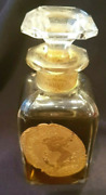 Rare Vintage Lorenzy Perfume Called Frimousse D'or Lead Crystal Bottle 50ml