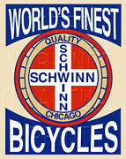 18 X 24 Reproduced Vintage Schwinn Bicycle Sign On Graphic Canvas