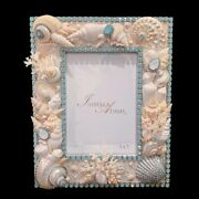 Isabella Adams 5x7 Pacific Opal Crystal And Sealife/shell Frame, Factory New