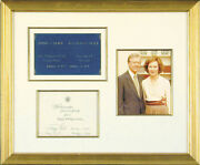 James E. Jimmy Carter - White House Christmas Card Signed With Co-signers