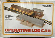 Bachman Operating Log Car With Dump Station Ho Scale 1427 New Rare Nos 11t