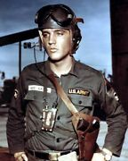 Elvis Presley Portrait In Us Army Uniform With Gun In Holster Gi Blues Poster