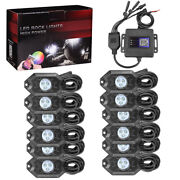 12 Pods Rgb Led Rock Lights Neon Lamp Off-road Music Wireless Bluetooth Control