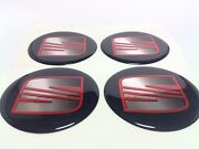 New 4pcs Silicone Stickers For Wheel Centre Cap Hubs For Seat - 60mm