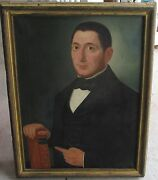 Early 19th Century American Folk Art Oil Painting Doctor Possibly Ammi Phillips