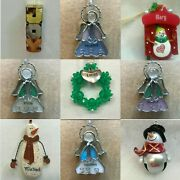 N33 Name Ornaments F - Z Each Priced Separately Many Choices Personalized Title