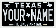 Houston Texas Personalized License Plate Your Name Any Text Custom Dual Maps