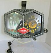 Vintage 1960s Grain Belt Beer Motion Moving Fountain Color Changing Clock Sign