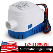 Automatic Submersible Bilge Water Pump 12v 1100gph With Float Switch For Boat Rv