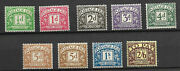 Sg D19 - D26 Inc 24and24a 1936-37 Edward Viii Full Set Postage Dues Unmounted Mint