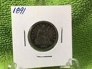 1891 Seated Quarter Extremely Fine Last Year For Seated Coins