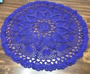 Tams Hearts And Pineapple Hand Crocheted Doily22 Inchespurpleroundvalentines