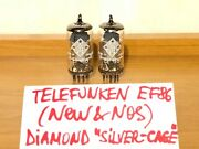 2x Ef86 Telefunken / 6267 / Ef806s - Diamond Silver-cage Germany, Matched Pair