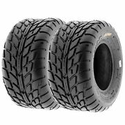 Pair Of 2 20x10-9 20x10x9 Quad Atv All Terrain At 6 Ply Tires A021 By Sunf