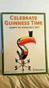 Guinness Happy St.patricks Day And Red Stripe Tin Sign 2 Pack..free Shipping