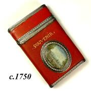 Antique French Vernis Martin Nandeacutecessaire Sterling Silver And Miniature Painting