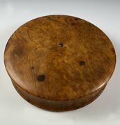 Antique 4.25 French Table Snuff Box, Stunning Burled Wood, Ts And Set Gemstone
