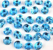 Natural Swiss Blue Topaz Oval Faceted Cut Loose Gemstone Lot Aaa Quality