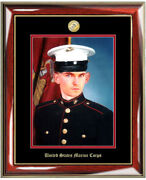 Usmc Photo Frame 8x10 Marine Corps Picture Frame Plaque Embossed Military Gift