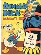 Four Color 29 Vg Donald Duck And The Mummyand039s Ring September 1943