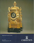 Christieand039s Important French Clocks Auction Catalog 1990