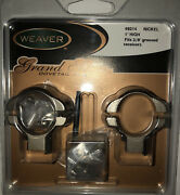 Weaver 49214 Grand Slam Dovetail Steel Nickel 1andrdquo High Fits 3/8andrdquo Grooved Receiver