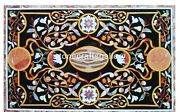 26x52 Marble Counter Table Top Scagliola Inlay Art Furniture Decorative B024