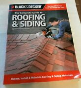 Black And Decker The Complete Guide To Roofing And Siding Updated 3rd Edition
